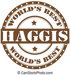 Haggis-label - Label with text Haggis:(traditional Scottish...