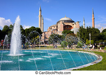 Hagia Sofia in Istanbul - Byzantine architecture of the...