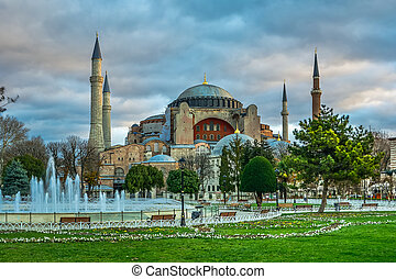 Hagia Sofia in Istanbul - Hagia Sofia church in Istanbul,...