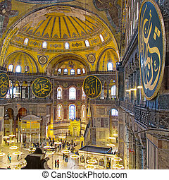 Hagia Sofia Interior 17 - The decorative interior of the...