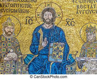 Hagia Sofia mosaic 09 - The mosaics that adorn the hagia...