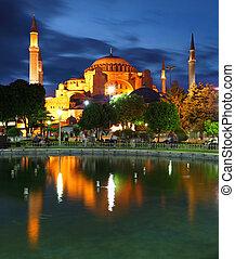 Hagia Sofia with reflection - Isntanbul, Turkey