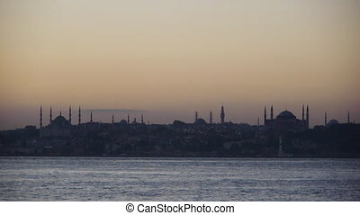 Hagia Sophia and Blue Mosque. - At upper right, there is...