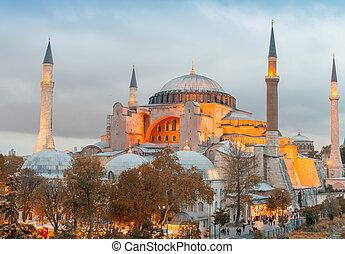 Hagia Sophia at night, Istanbul