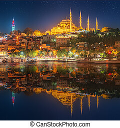 Hagia Sophia early at the night in Istanbul