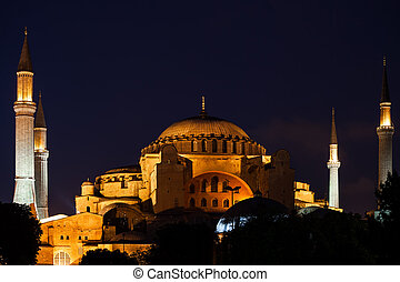 Hagia Sophia In Istanbul At Night