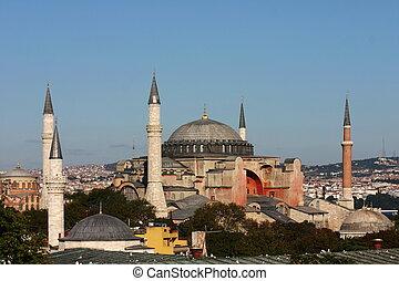 Hagia Sophia in Istanbul, clear sky