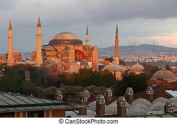 Hagia Sophia in Istanbul in morning light