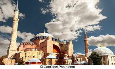 Hagia Sophia in Istanbul. The world famous monument of Byzantine architecture.