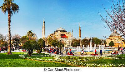 Hagia Sophia in Istanbul, Turkey in the morning