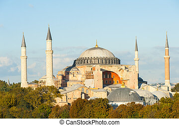 Hagia Sophia in the evening, Istanbul, Turkey