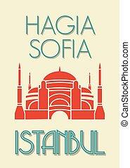 Hagia Sophia, Istanbul poster
