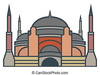 Hagia Sophia, Istanbul - simple icon