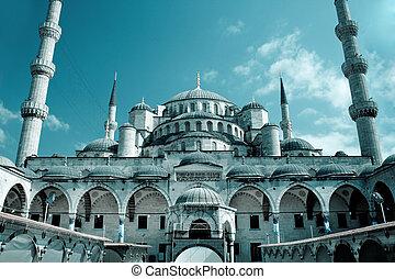 hagia sophia, mezquita, en, estambul