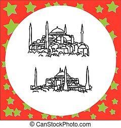 Hagia Sophia museum or Ayasofya Muzesi in Istanbul, Turkey...