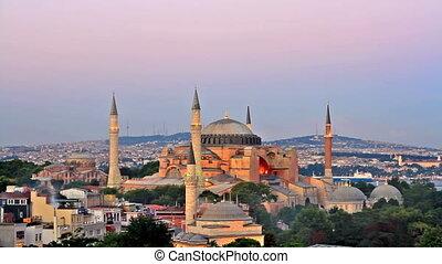 Hagia Sophia on sunset - Hagia Sophia is the famous...