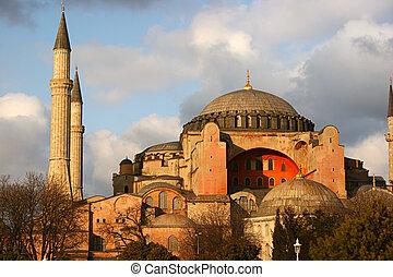 Hagia Sophia Mosque, in Istanbul, Turkey.