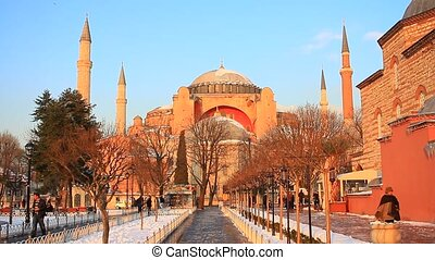 Hagia Sophia. Winter View