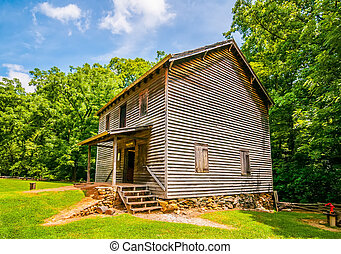 hagood, 製粉所, 歴史的な 場所, 中に, サウスカロライナ