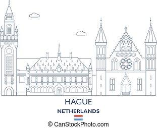 Hague City Skyline, Netherlands