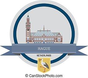 Hague ribbon banner
