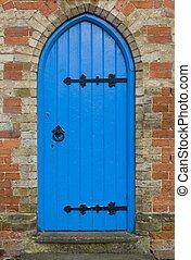 hagyományos, íves, blue ajtó, uk