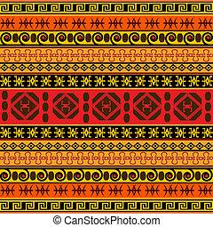 hagyományos, afrikai, motívum