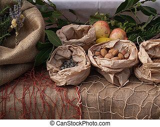 hagyományos, asztal, dalmáciai