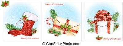 hagyományos, karácsony, symbols.