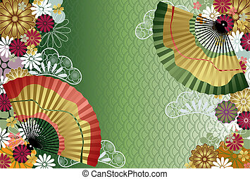 hagyományos, motívum, japán