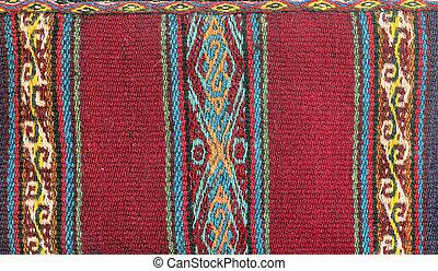 hagyományos, textil, amerika, déli