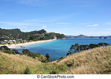 Hahei Beach in Coromandel peninsula. New Zealand - North Island.