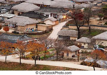 hahoe, coréia sul, povo, vila