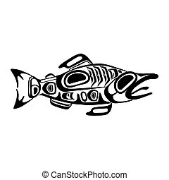Haida fish tattoo