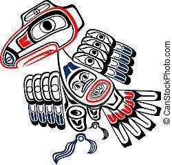 Haida Raven - Classic Haida Gwaii stylized raven, the...