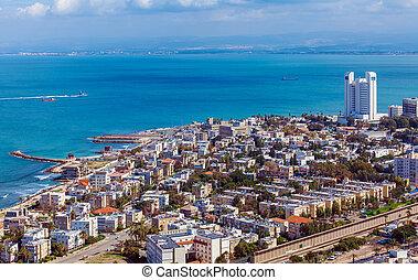 haifa, イスラエル, 空中写真