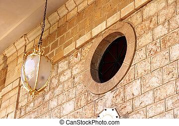 haifa, bab, linterna, santuario, israel, edificio, ventana