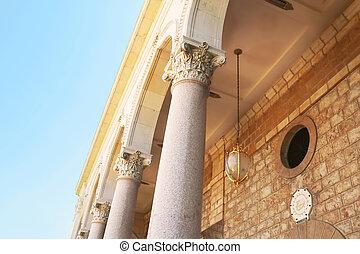 haifa, bab, santuario, parte, edificio, israel
