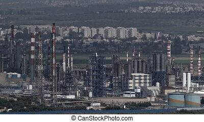 :Oil Refineries Ltd in Haifa, Israel - HAIFA, ISR - APR 21...