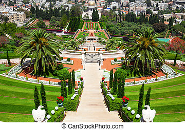 haifa, jardines, bahai, israel