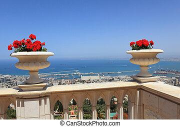 haifa, jardines, bahai, vista