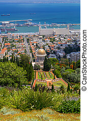 haifa, jardines, israel, bahai