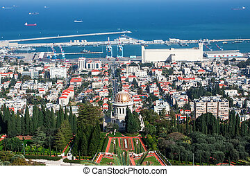 Haifa - View of Haifa from the Bahai garden