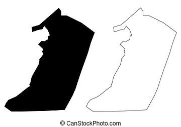 Hail City (Kingdom of Saudi Arabia, Hail Region) map vector ...
