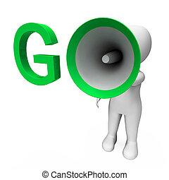 hailer, motivieren, start, gehen, shows, oder, eingeben