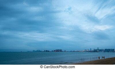 Hainan Haikou Bay architectural landscape - Haikou, Hainan...