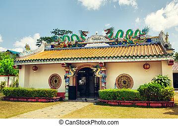 hainan, templo, chino
