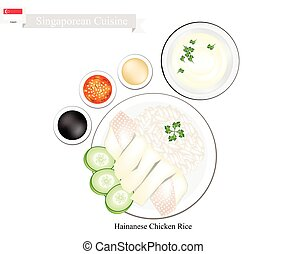 Hainanese Chicken Rice, A Popular Dish in Singapore -...