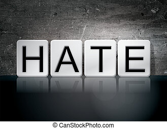 haine, carrelé, lettres, concept, et, thème