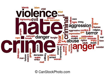 haine, mot, nuage, crime